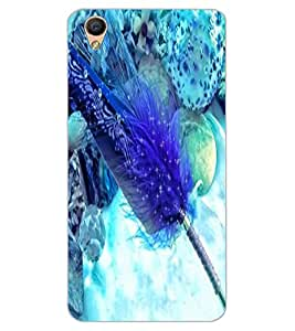 ColourCraft Lovely Feather Design Back Case Cover for OPPO F1 PLUS