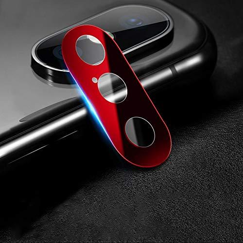 webcam cover, cobertura completa del teléfono móvil del metal de la cámara trasera cubierta protectora del lente, for iphone xs xs/max/x (2 pcs, 10d) (color : red)