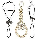 Leafie W_Gannie Black Bow Ring Bracelet ...