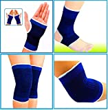 #7: KECKTUS Combo Of Palm Gloves + Knee Support + Elbow Support + Ankle Support | 4 in 1 Pack