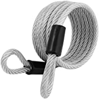 Master Lock 1.8m x 6mm Coiled Braided Steel Cable