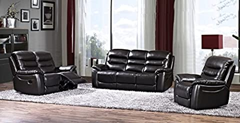 Bentley Real Leather Brown Recliner Leather Sofa Suite 3+2 Seater Brand New 12 Months warranty FREE DELIVERY TO ENGLAND AND WALES