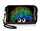 Luxburg® Design Universal Kameratasche Hülle Sleeve Case für kompakte Digitalkamera, Motiv: Igel undercover