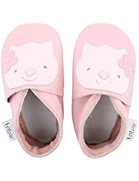 Bobux Kitten Light Pink Leather Baby Soft Soles