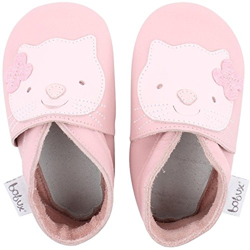 Bobux Kitten Light Pink Leather Baby Soft Soles Light Pink