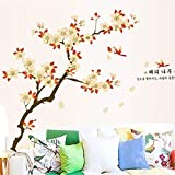 Mddrr Extra Große Obstbaum Aprikose Blume Wandaufkleberdekorationvideowand Sofa Hintergrund Abnehmbare Spiegel Muraposter Wandbild Wohnzimmer Kinderzimmer
