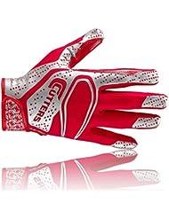 Cutters S251 REV 2D les gants de football américain, receveur, rouge