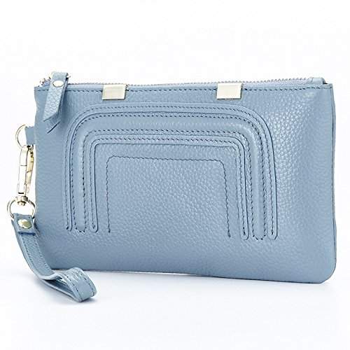 Mefly Die Neue Handtasche Damen Leder Kupplung Light Blue