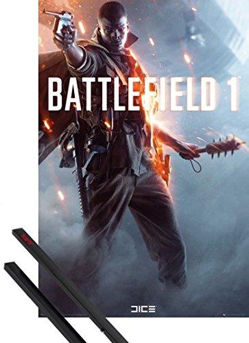 Poster + Sospensione : Battlefield Poster Stampa (91x61 cm) 1, Main E Coppia Di Barre Porta Poster Nere 1art1®