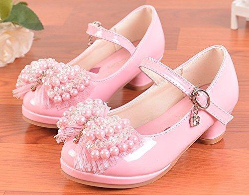 OPSUN Chuaussures princesse Enfants Filles Ballerines à bride Chaussure Cérémonie Mariage Escarpin Babies Rose