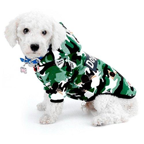 Kostüm Boxer Pet - selmai Camo Kleine Hunde Hoodies Jungen Stecker Puppy Winter Mantel Jacket Fleece Jacke gefüttert Baumwolle Haustier Hund Outfits Apparel Kleidung