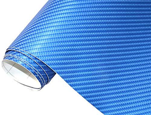 Neoxxim 12,00€/m2 Premium Auto Folie - 4D Carbon Folie BLAU METALLIC 4D 200 x 150 cm - blasenfrei mit Luftkanälen ca. 0,15mm dick Folierung folieren bekleben