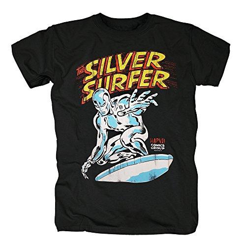 TSP Silver Surfer T-Shirt Herren XS (Surfer Kostüm Silver Halloween)
