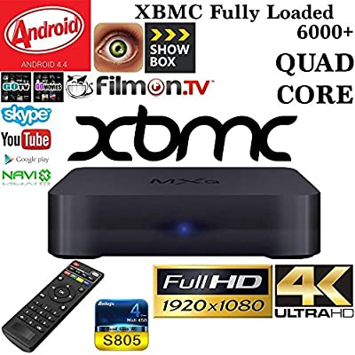 Imaxx® Quad Core MXQ 2015 Smart TV BOX Media Player with KODI(XBMC) Streamer 1GB/8GB, FULLY LOADED ,Google Android 4.4 KitKat,CPU Amlogic S805, 1.5 GHz
