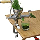zhazhiji Edelstahl manuelle Weizengras Weizengras langsam Entsafter Gemüse orange extractor...