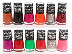 Makeup Mania Exclusive Nail Polish Set of 12 Pcs (Multicolor Set  72)