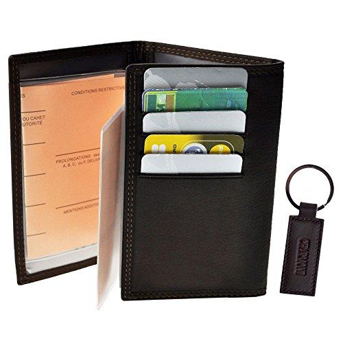 Charmoni–Schutzhülle Tür Papiere Auto Führerschein die Kreditkarte grau Karte aus Färsenleder, NEU abjat Gr. Einheitsgröße, Braun - Braun