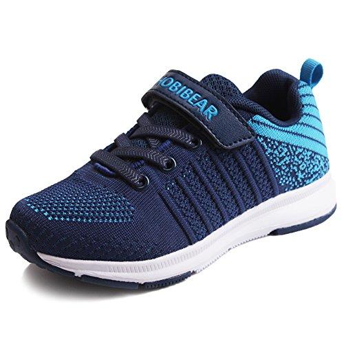 Sneaker Mädchen Laufschuhe Jungen Hallenschuhe Jungen Outdoor Sportart Schuhe Low-Top für Unisex-Kinder Blau 33