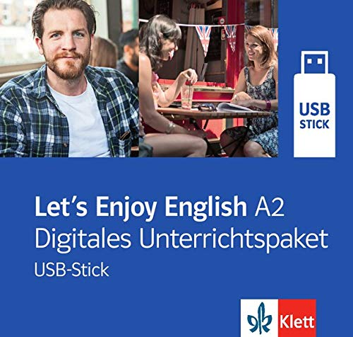Let's Enjoy English A2 (A2.1+A2.2) digital: A step-by-step course for adult learners. USB-Stick