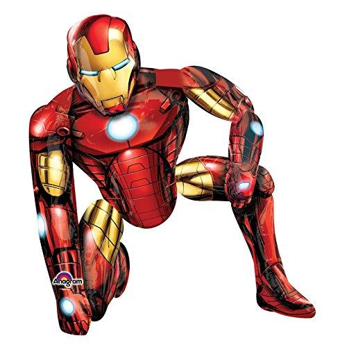 Iron Man Party-Airwalker in Lebensgröße, 116,8 cm groß, Marvel, Avengers, Partydekoration, Luftballon