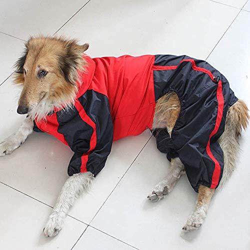 Rost Kostüm Dog - Pet Regenschirm Dog RainCoat Red Dog Clothes Wasserdichte Regenjacke Mit Knöpfen Kragenloch Hoodie Kostüme Winddichter Sicherheitsregenmantel Pet Kleidung Für Kleine Mittelgroße Hunde (Size : M)