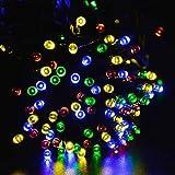 lederTEK Guirnalda de Luces 200 LED Solar de Color Multi 8 Modos para Decorar Patio, Jardín, Terraza, Fiesta, Navidad, Boda