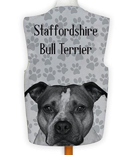 NEUHEIT Weste Kostüm Spass Hirnrissig Hund Anzeigen Staffordshire Bull Terrier - Mehrfarbig, L