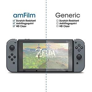 amFilm Nintendo Switch Screen Protector, Premium Tempered Glass Screen Protector for Nintendo Switch