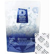 Dry & Dry, confezione da 50 bustine essiccanti in gel di silice da 5 g, ricaricabili, 50 Pack(5 Gram Paper)