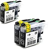3 x Office Channel24 Tintenpatronen Schwarz mit Neusten Chip kompatibel zu Brother LC123 LC125 LC121 für Brother DCP-J 4110 DW DCP-J 4110 W MFC-J 4410 DW MFC-J 4510 DW MFC-J 4610 DW MFC-J 4710 DW DCP-J552 DW DCP-J752 DW DCP-J285 DW DCP-J470 DW DCP-J650 DW DCP-J870 DW DCP-J875 DW DCP-J970 DW MFC-J4310 DW MFC-J6520 DW MFC-J6720 DW MFC-J6920 DW