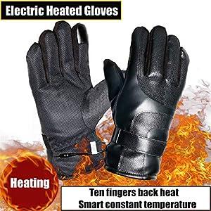 Massage-AED Elektrisch beheizte Handschuhe Wiederaufladbare elektrische warme batteriebetriebene Wärmehandschuhe Winter Sport beheizte Handschuhe zum Klettern