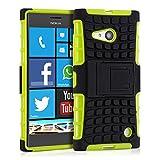 kwmobile Étui Hybride Support Nokia Lumia 730/735 en Vert Noir