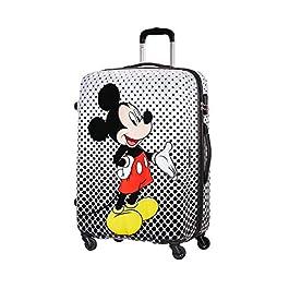 American Tourister Disney Legends Spinner L Valigia per bambini, 75 cm, 88 L, Multicolore (Mickey Comics)