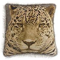 Digital cruz con diseño de leopardo funda para cojín de 43 cm x 43 cm para cuchillas de patines de borde de pelo sintético separable