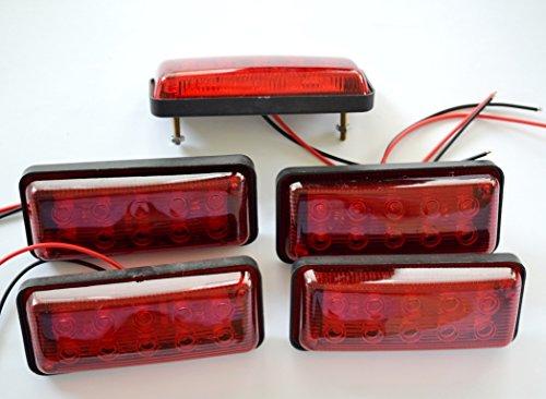 Für Rote Lkws Led-lichter (5Stück 24V LED hinten Seite Marker rot Lichter für LKW Caravan Trailer Chassis Camper Camper Kippmulde Bus)