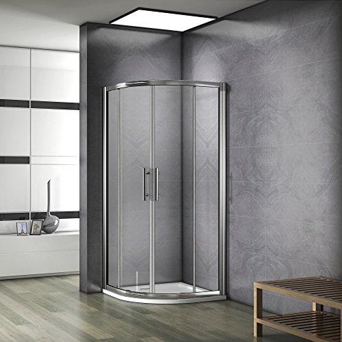 90X90X195cm Porte coulissante Paroi de douche accès d'angle cabine de douche verre...