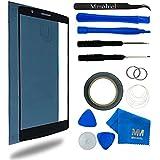 MMOBIEL Kit de Reemplazo de LG G4 Series 5.5 Inch (Negro) incluye pantalla de Vidrio / cinta adhesiva de 2 mm / Kit de Herramientas / Limpiador de microfibra / alambre Metálico