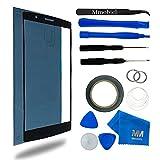 MMOBIEL® Kit de Reemplazo de LG G4 Series 5.5 pulgadas (Negro) incluye pantalla de Vidrio/cinta adhesiva de 2 mm/Kit de Herramientas/Limpiador de microfibra/alambre Metálico