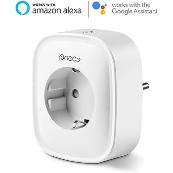 Presa WiFi Intelligente, Anccy Presa Casa Intelligente Lavorare con Alexa, Google Home and IFTTT, APP Telecomando Presa, Definisci Timer e Scene / Monitorare il Consumo di energia, Supporto Rete 2,4 GHz, 10A-2200W