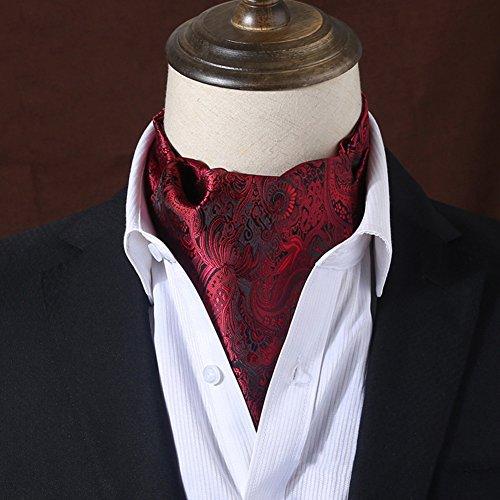 PENGFEI Krawattenschal Männer Geschäft Beidseitig Drucken Passen Hemd Schals 24 Farben Wahlweise, 15x117CM (Farbe : 21#) (Herren Krawatte Schal Seide)