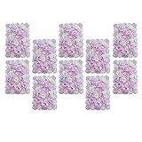 Homyl 10stk. Romantische Kunstblumen Blumenwand Rosenwand Blumen Säule für Hochzeit Dekoration, Weiß und Rosa