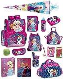 Disney die Eiskönigin Schulranzen-Set 21tlg. Sporttasche, Regenschutz, Schultüte 85cm Frozen rosa pink lila
