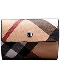 MYLB HOMBRES / MUJERES Bienes Calidad Premium Soft Negro titular de la tarjeta de crédito de cuero con 20 tarjetas de plástico mangas / Slots