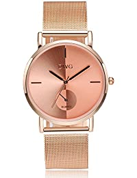 DWG Women's Fashion Watch With Stainless Steel Mesh Band Quartz Movement Ladies Business Dress Wristwatch