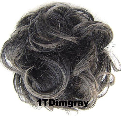 ShowPower Grau MISCHUNG HAARTEIL KLASSISCH LOCKIG HOCHFRISUR MIX 630/Q51Dimgray (Grau-haar-brötchen)