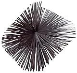 Scovolo quadro 35x35 cm per camini in acciaio con anello e attacco filettato 12 MA