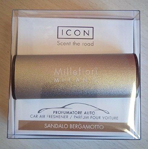 Millefiori Milano 16CAR56Sandalo bergamotto Deodorante per Auto Icon, Metallizzato Opaco