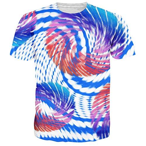 Leapparel Unisex Geometrische Figuren Gedruckte Hipster Neuheit T-Shirts T Shirts Kleid XXL (Gedruckt Hipster)