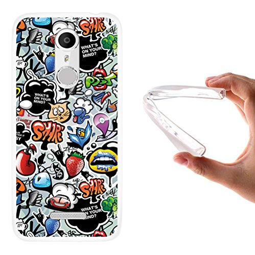 WoowCase Coolpad Torino S Hülle, Handyhülle Silikon für [ Coolpad Torino S ] Coloriertes Graffiti Handytasche Handy Cover Case Schutzhülle Flexible TPU - Transparent