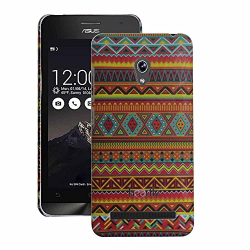 Heartly Aztec Tribal Art Printed Design Retro Color Armor Hard Bumper Back Case Cover For Asus Zenfone 5 Lite A502CG - Vintage Orange  available at amazon for Rs.220